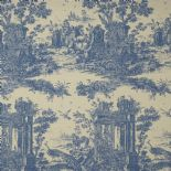 Fontainebleau Fabric Paon Reina Lin FONT81776513 or FONT 8177 65 13 By Casadeco
